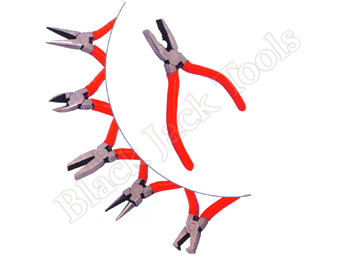 Miniature Pliers 6 Pcs. Set - Combination, Side Cutting, Long Nose, Flat Nose, Round Nose &  Top Cutter